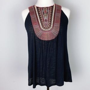 Wrangler Tank with Multi Color Appliqué